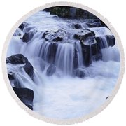 Natural Bridges Falls 01 Round Beach Towel