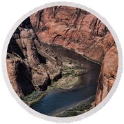 Natural Colorado River Page Arizona  Round Beach Towel