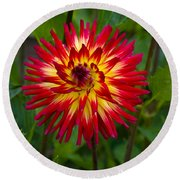 Natural Fireworks Round Beach Towel