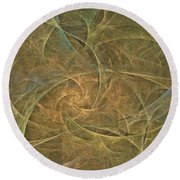 Natural Forces- Digital Wall Art Round Beach Towel