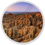Natural Monument Carcavas Del Marchal II Round Beach Towel