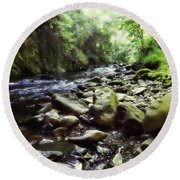 Natural Place Round Beach Towel