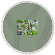 Natural Stained Glass Round Beach Towel