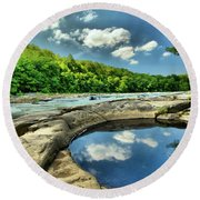 Natural Swimming Pool Round Beach Towel