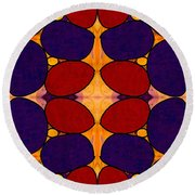 Naturally Dimensional Abstract Bliss Art By Omashte Round Beach Towel