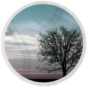Nature - Early Sunrise Round Beach Towel