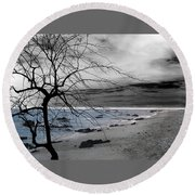 Nature - Sad Tree Round Beach Towel