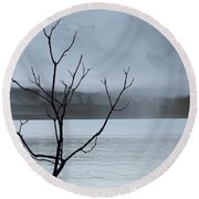 Nature -  The Naked Tree Round Beach Towel
