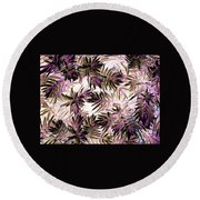 Nature Abstract In Pink And Brown Round Beach Towel