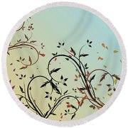 Nature Branches Round Beach Towel