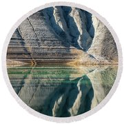 Nature Colorful Water Abstract Round Beach Towel