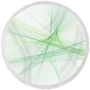 Nature Computer Graphic Line Pattern Round Beach Towel