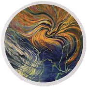 Nature Frustration Round Beach Towel
