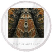 Nature In Abstract 3 Poster Round Beach Towel