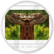 Nature In Abstract 4 Poster Round Beach Towel