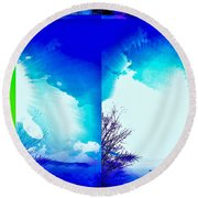 Nature In Abstract Round Beach Towel