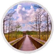 Nature Path Round Beach Towel