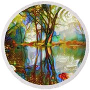Nature Reflections 2 Round Beach Towel