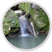 Nature Spring Scene Creek Round Beach Towel