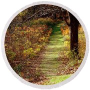 Nature Trail Round Beach Towel