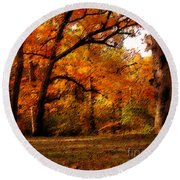 Nature's Canopy Round Beach Towel