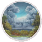 Nature's Carnival Round Beach Towel