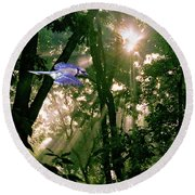 Nature's Cathedral Round Beach Towel