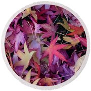 Nature's Confetti Round Beach Towel