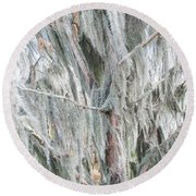 Natures Drapery At Okefenokee Swamp Round Beach Towel