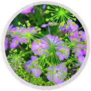 Nature's Fireworks Round Beach Towel