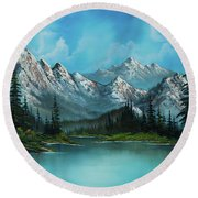 Nature's Grandeur Round Beach Towel