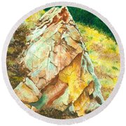 Nature's Granite Sculpture Round Beach Towel