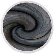 Nature's Illusions- Yin And Yang Round Beach Towel