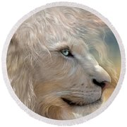Nature's King Portrait Round Beach Towel