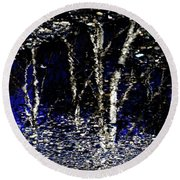 Natures Looking Glass 5 Round Beach Towel