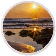 Nature's Masterpiece Round Beach Towel