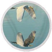Nature's Mirror Round Beach Towel