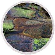 Nature's Mosaic No. 1 Round Beach Towel