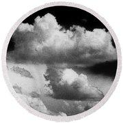 Nature's Mushroom Cloud Round Beach Towel