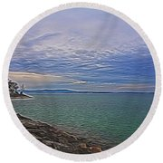 Nature's Palette - 3 Round Beach Towel