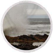 Nature's Power Round Beach Towel