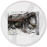 Nature's Roots Round Beach Towel