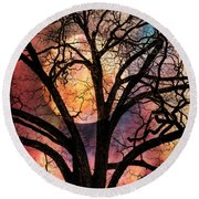 Nature's Stained Glass Round Beach Towel
