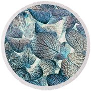 Nature's Tracery Round Beach Towel