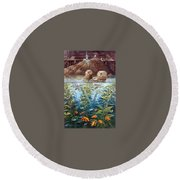 Natures Union At Monterey Robert Lyn Nelson Round Beach Towel