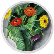 Nature's Vase Round Beach Towel