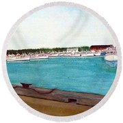 Naufrage Harbour Pei Round Beach Towel