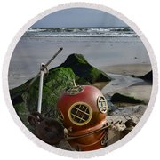 Nautical Collection Found On The Beach Round Beach Towel