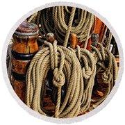 Nautical Knots 16 Round Beach Towel