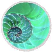 Nautilus Aqua Spiral Round Beach Towel